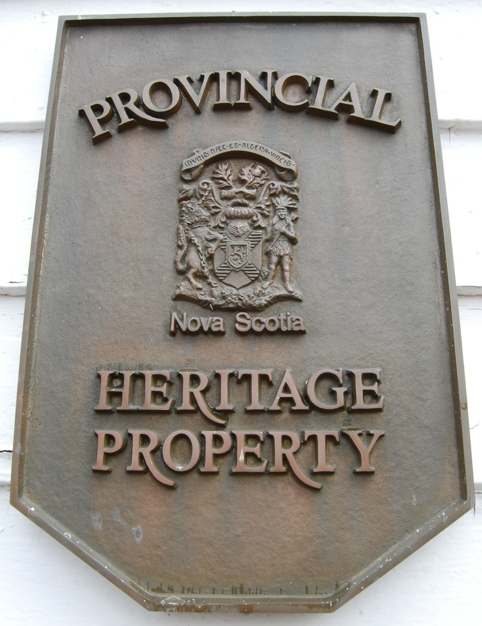 Official NS Heritage Property plaque.