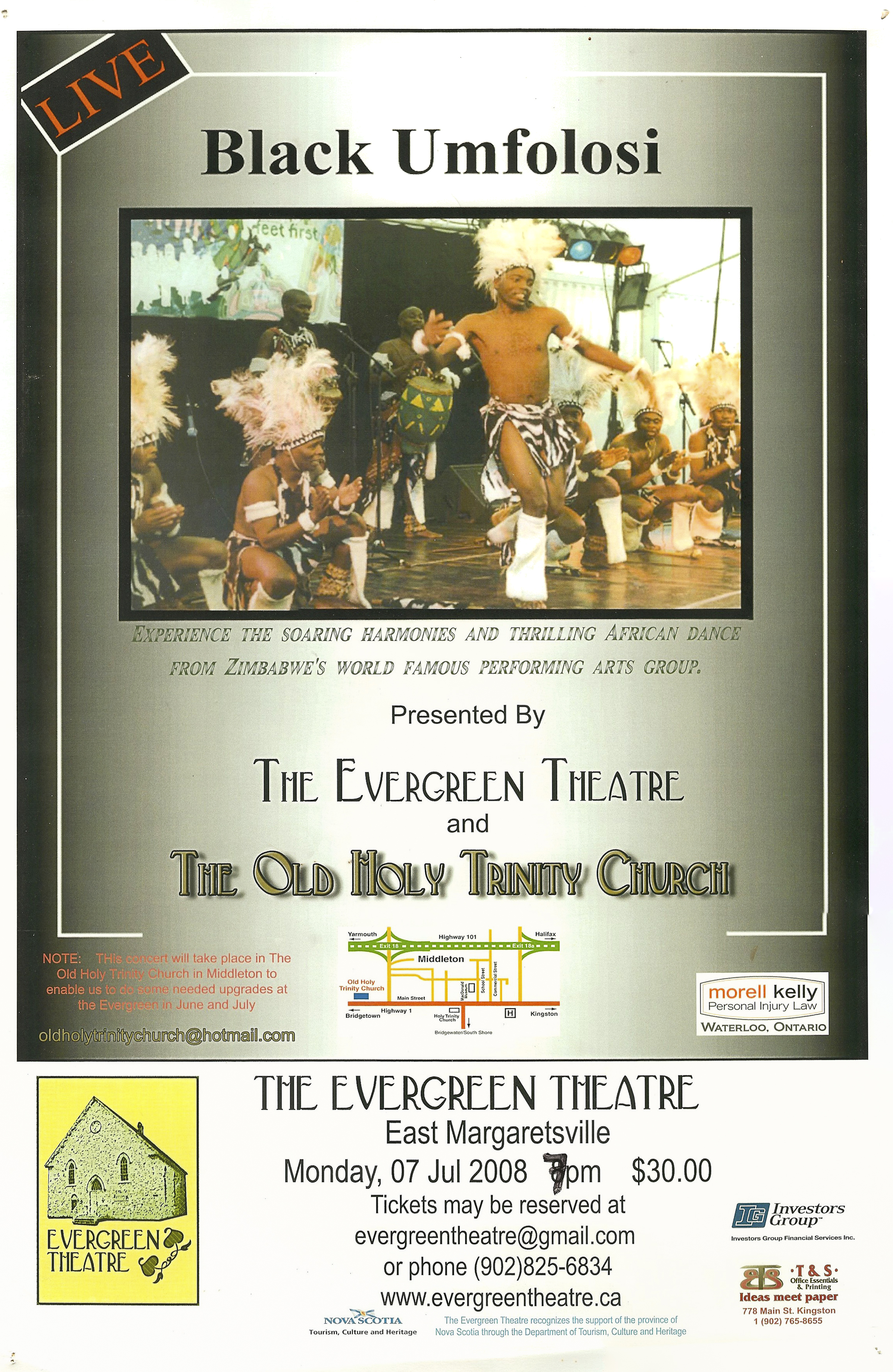 2008 Black Umfolosi Performance Poster